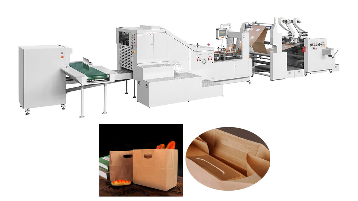 Square Bottom Patch Handle Paper Bag Machine