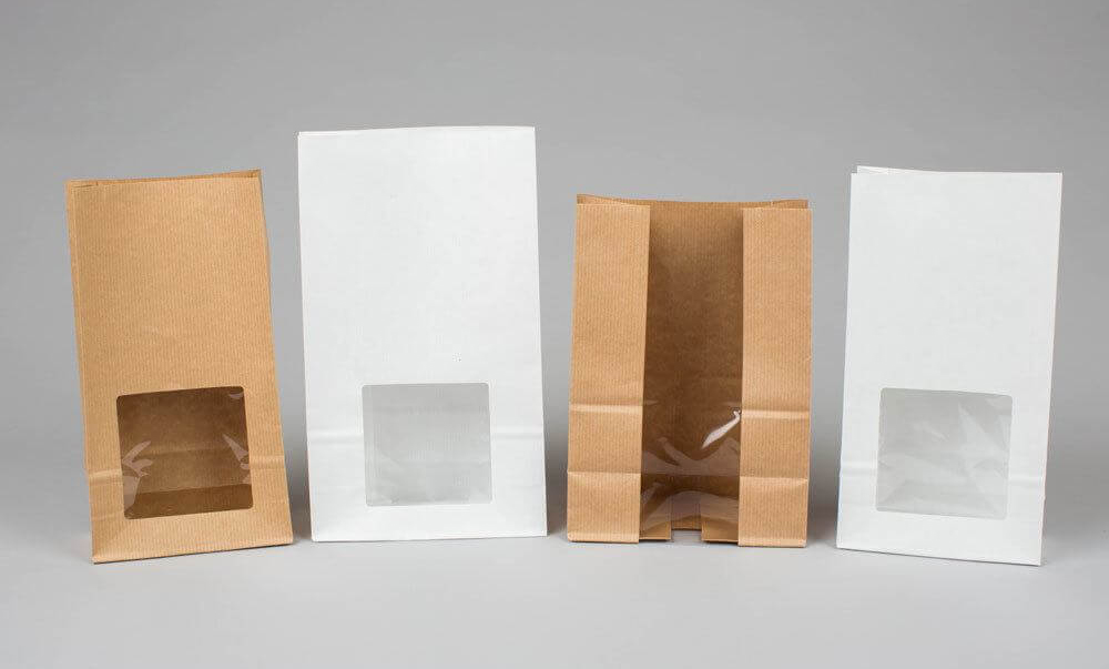 Our Square Bottom Paper Bag with Window Gallery