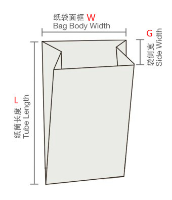paper bag size drawing